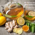 Infuzie de ghimbir cu lămâie